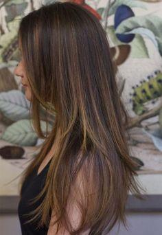 Gorgeous Straight Long Hairstyles mit Blonde Lowlights für Frauen