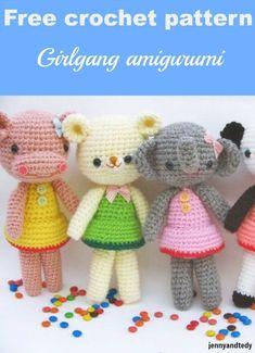 Girlgang amigurumi free pattern