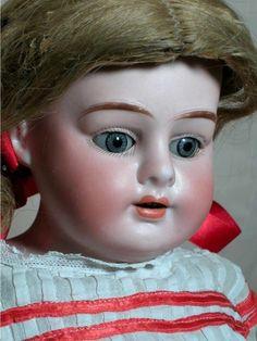 "Antique German Bisque Shoulder Head Doll Alma Name Doll A. M. kidalene body  23"""