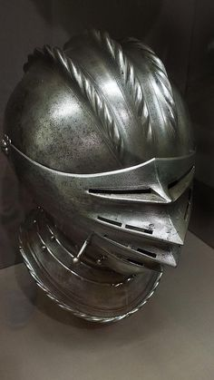 Close Helmet made in Nuremberg Germany Engraved Steel and Brass. 1535-1540 AD.