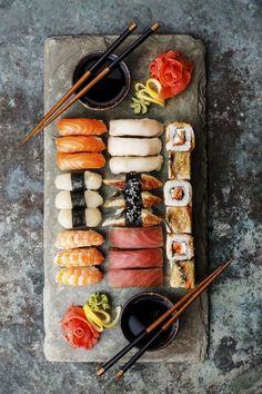 Sushi is a healthy lunch choice if your choose your sushi wisely. Avoid anything fried or creamy sauces, as these add extra calories and fat. Sashimi, raw fish, is a great healthy choice. Check out all of our tips to ordering sushi here!