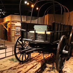 Wagon used by the Union Army in Atlanta during the Civil War on display at the Atlanta History Center