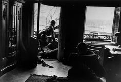 April 18th, 1945. American soldiers engaged in a house to house fight against German troops 2nd Infantry Division