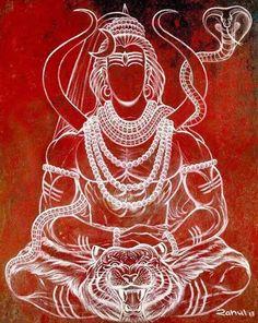 Shiva: Oṃ Namaḥ Śivāya, ॐ नमः शिवाय, Tamil: Om Nama civaaya ஓம் நமசிவாய, Kannada: ಶ್ರೀ.ಶಿವಯ ನಮಃ This is something that might come out good on my sleeve! Shiva Art, Shiva Shakti, Krishna Art, Hindu Art, Tatoo Hindu, Shiva Tattoo, Om Namah Shivaya, Lord Mahadev, Lord Shiva Painting
