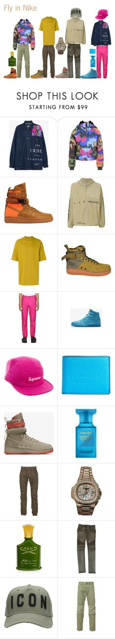 """""""Nike Fly"""" by kjsawta on Polyvore featuring Raf Simons, Moschino, NIKE, Yeezy by Kanye West, Rick Owens, G-Star Raw, Supreme, Burberry, Tom Ford and Balmain"""