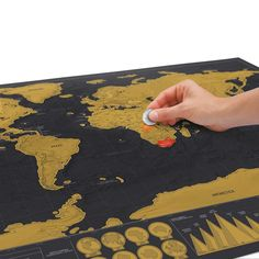 Luckies, home to the Scratch Map. Find cool gifts, unusually cool gift ideas, gadgets, Scratch off Maps and Travel gifts. World Map Poster, World Map Wall, Wall Maps, Push Pin World Map, Gifts For Your Boss, Scratch Off, Travel Maps, Travel Destinations, Black Paper