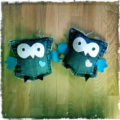 Jean pockets turned into owls!
