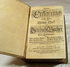 This is a German Bible from 1678. This may not be the Holy Grail, but it sure is pretty cool, especially for Christians. See more at http://stores.ebay.com/Gully-Farm-Consignment