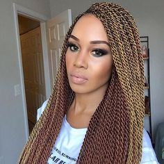 """""""love these two-tone senegalese twists on @tupo1. #summerhair inspo!"""" Photo taken by @curlbox on Instagram, pinned via the InstaPin iOS App! http://www.instapinapp.com (05/31/2016)"""