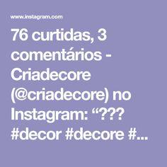 """76 curtidas, 3 comentários - Criadecore (@criadecore) no Instagram: """"♥♥♥ #decor #decore #decoracao #interiordesign #interior #inspiration #suculenta #paisagismo"""" Instagram, Design, Bronze, Living Room, Portrait, Landscaping, Garden, Black, Pink"""