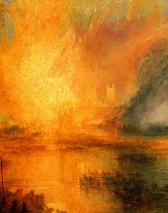 The Burning of the Houses of Parliament, detail William Turner