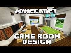 Minecraft Tutorial: How To Make Furniture For A Game Room (Modern House Build…