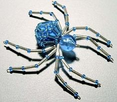 made from the telstar bead, pretty cool idea for halloween or the spider lover in your life