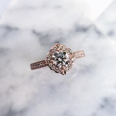 Rose gold and diamond dream seeds... #honeyjewelryco #buildyourstory #gemhuntrings #dreamaboutthis
