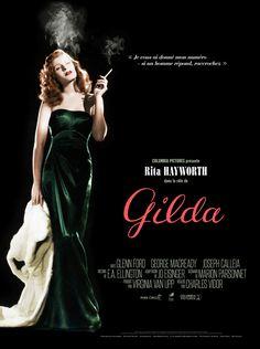 Rita Hayworth in Gilda Movie Posters For Sale, Classic Movie Posters, Original Movie Posters, Hollywood Icons, Vintage Hollywood, Classic Hollywood, Ford, Rita Hayworth Gilda, Films Étrangers