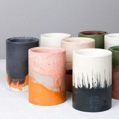 Some delicious colour inspiration from these cement ceramics from Studio Twocan! #limedrop #colour #inspo #ceramics #StudioTwocan