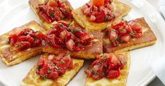 A tasty combination of seared haloumi and fresh tomato salsa.