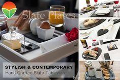 Tablewares Slate Dinner Ware Dinnerware Whiteboard Dishes Utensils & Slate tableware | Slate Tableware | Pinterest | Tablewares and Slate