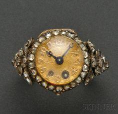 Rare Antique Miniature Ring Watch, Pierre Morand late 18 th cent Antique Necklace, Antique Rings, Rare Antique, Antique Jewelry, Vintage Jewelry, Ring Watch, Bracelet Watch, Unusual Clocks, Antique Watches