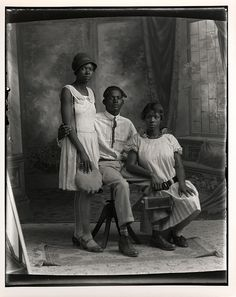 Studio portrait of African American siblings taken by JohnTrlica, a Czech photographer and community leader in Granger, Texas. His studio portraits of African-American, Hispanic and Czech area residents, reflect the diversity of the small Texas town during the 1920s.