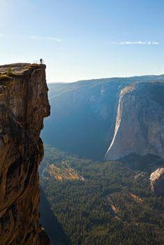 24-Hours in Yosemite Photo Story - Taft Point In Yosemite. Photo By Grant Ordelheide