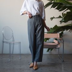 wool trousers, 27W #Regram via @persephonevint