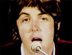 my gif gif love music vintage the beatles sixties video colour peace icon color Paul McCartney john lennon ringo starr george harrison beatles legend Hey Jude