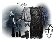 """"""" GOTHIC GHOST"""" by chris-hawkins ❤ liked on Polyvore featuring Tarina Tarantino, Philipp Plein and Bling Jewelry"""