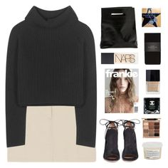 """""""I wanna talk about neutrality"""" by amazing-abby ❤ liked on Polyvore featuring Haider Ackermann, Gianvito Rossi, NARS Cosmetics, Marie Turnor, Zara, Butter London, Davines, Stila and Alexander McQueen"""