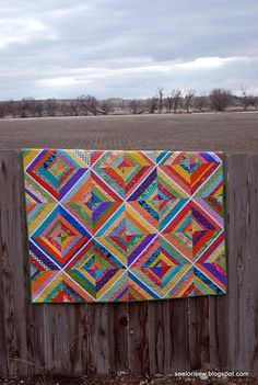 Finished String quilt by see lori sew, via Flickr