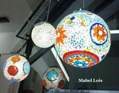 técnica mosaiquismo, realizadas con vidrio opaco color y venecitas vitro