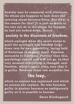 Kierkegaard on Anxiety..wow