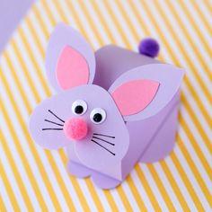 Paper Bobble Head Bunny Craft