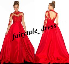 New Formal Ball Appliques Long Evening Prom Ball Pageant Celebrity Gowns Custom