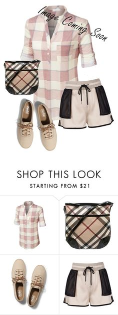 """bag"" by masayuki4499 ❤ liked on Polyvore featuring LE3NO, Burberry, Keds and Latico"