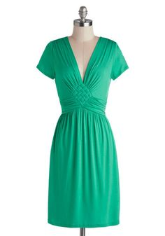 Glam of Green Gables Dress, #ModCloth. Thinking of wearing this to my fil's wedding this summer