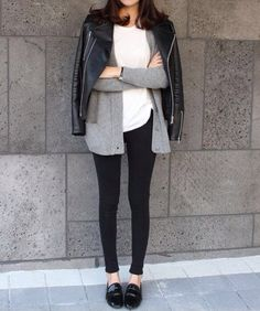 biker jacket, cardigan, cozy, edgy, fall, fall fashion, fashion, fashion fever, girl, leather jacket, loafers, style, sweater weather, winter, winter fashion, moto jacket, unomatch, love unomatch, winter unomatch, fashion for unomatch, dress unomatch