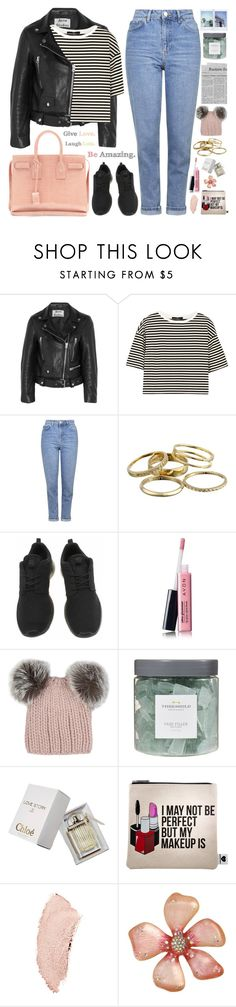 """2415. Will you show me love as we get older?"" by chocolatepumma ❤ liked on Polyvore featuring Acne Studios, TIBI, Topshop, Kendra Scott, Yves Saint Laurent, NIKE, Avon, Eugenia Kim, Threshold and Chloé"