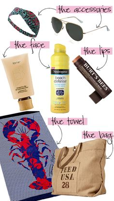 Get ready for the beach with Skirt intern Emily's must-haves! http://skirtpr.com/blog/etc/beach-bag-essentials/
