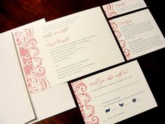 Demure Damask Custom Color Wedding Invitation by PrEttYLiLNoTeS, $2.50