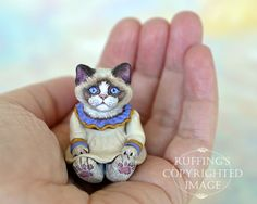 "OOAK Miniature Ragdoll Kitten 1"" Scale by Max Bailey, on eBay"