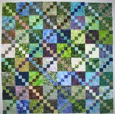 Exuberant Color: chain quilts