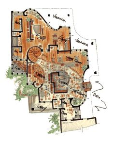 Curved wall floor plans - they have cool castle floor plans too