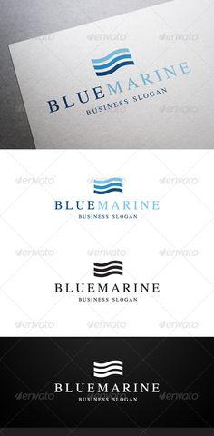 Blue Marine Logo — Vector EPS #ocean #fresh • Available here → https://graphicriver.net/item/blue-marine-logo/6001919?ref=pxcr