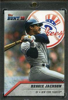 2016 Topps Bunt Baseball 1/1 Blank Back. Reggie Jackson YANKEES