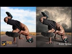 Hard Light Effects in Photoshop - (PSD Box) - YouTube