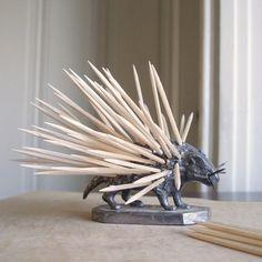 Victorian Era Silver Porcupine Toothpick Holder $98
