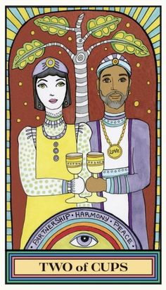 Card of the Day – 2 of Cups – Friday, February 19, 2021 – Tarot by Cecelia