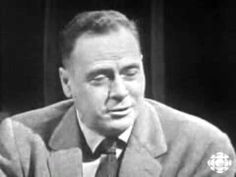 """A """"Vintage"""" Television program with Marshall McLuhan the author of the book I am reading. The Global Village."""