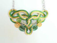 Celtic Dreams Anweisung Draht Arbeit Halskette - anpassen Ihre Farben